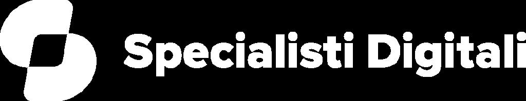 Specialisti Digitali logo verticale bianco